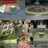 Blumenteppiche an Fronleichnam